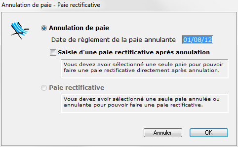 Annulation De Paies Paies Rectificatives
